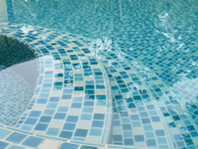 Water surface of a swimming pool